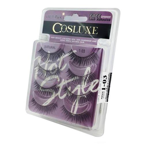 Valuepack Eyelashes 4 Pairs + Free Lash Adhesive   103