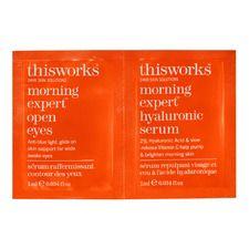 Morning Expert Open Eyes + Hyaluronic Serum Duo, Sachet