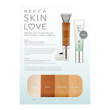 Skin Love 1) Brighten&Blur Primer And 2) Weightless Blur Foundation Sample Card, Sachet